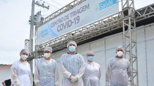 [Centro de Triagem para a COVID-19 é instalado ao lado da UPA de Delmiro Gouveia]